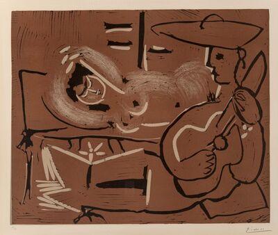 Pablo Picasso, 'Femme couchée et guitariste', 1959