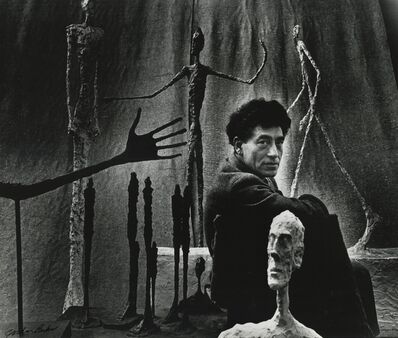 Gordon Parks, 'Alberto Giacometti and His Sculptures, Paris, France', 1951