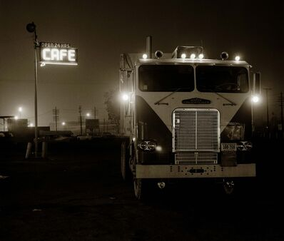 Steve Fitch, 'Truckstop, Highway 58, Bakersfield, California', 1972