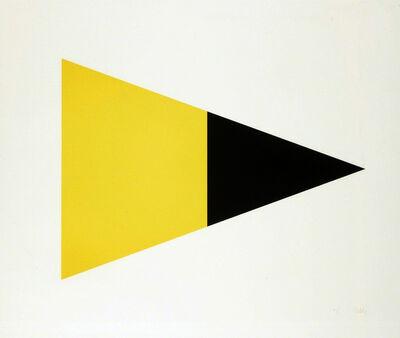 Ellsworth Kelly, 'Black/Yellow', 1970-1972