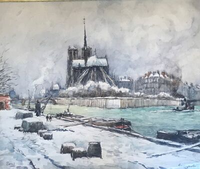 Georges Rose, 'Notre dame sous la neige'