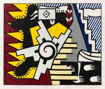 Roy Lichtenstein, 'American Indian Theme II (from American Indian Theme Series)', 1980