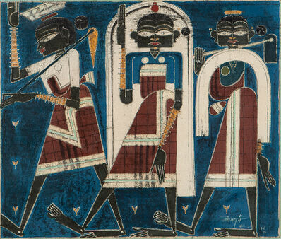 Laxman Pai, 'Three Goan Women', 1951