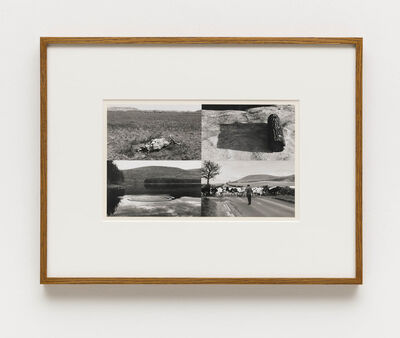 Hamish Fulton, '/ Untitled (Badlands, South Dakota; Woodstock, New York; Ivinghoe Beacon, Buckinghamshire; Woodstock, New York)', 1969-1970