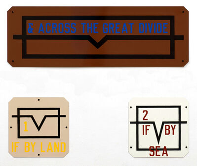 Lawrence Weiner, '& Across The Great Divide', 1991