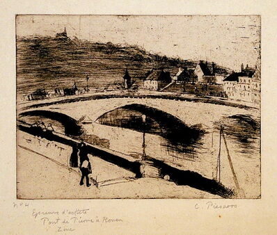 Camille Pissarro, 'Le Pont de Pierre, a Rouen', 1887