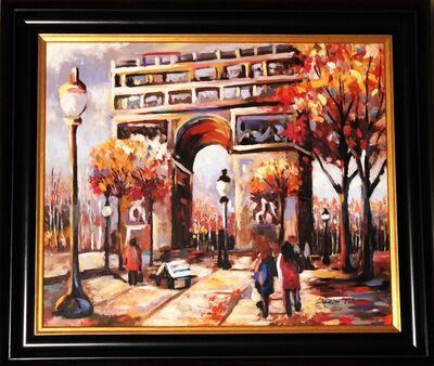 Redina Tili, 'Arc De Triophe version 27 - Original Oil on canvas painting by Redina Tili', 2017