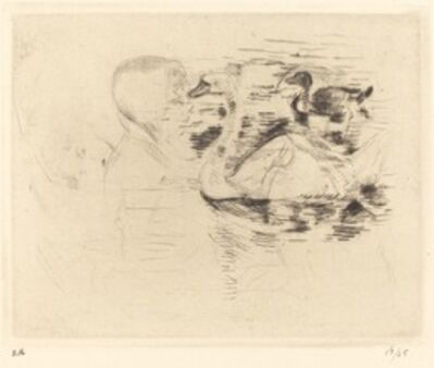 Berthe Morisot, 'Swans at Stagnant Water', 1888/1890