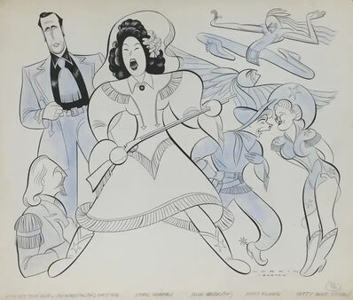 Sam Norkin, 'Ethel Merman Broadway Musical ANNIE GET YOUR GUN Mid-Century Modern Caricature Drawing', 1946
