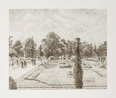 Camille Pissarro, 'Jardin Anglais près London ', 1900