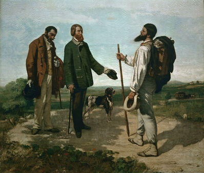 Gustave Courbet, 'The Encounter (Bonjour, M. Courbet)', 1854