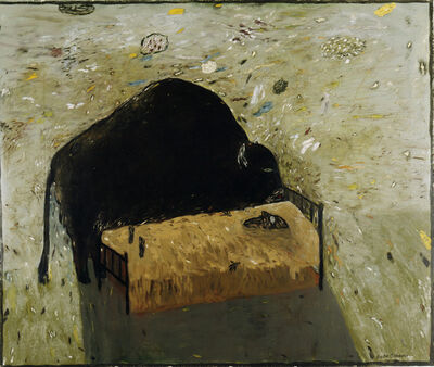 Gaylen Hansen, 'Bison and Sleeping Person', 1986