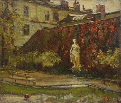 Petr Petrovich Litvinsky, 'A garden in Leningrad', 1943