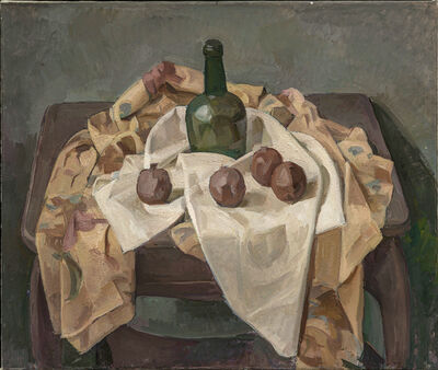 Wilbur Niewald, 'Still Life with Green Bottle and Pomegranates', 2011