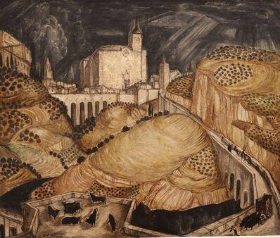 André Maire, 'View of Toledo 'Spain', by André Maire, Art Déco, France', ca. 1930
