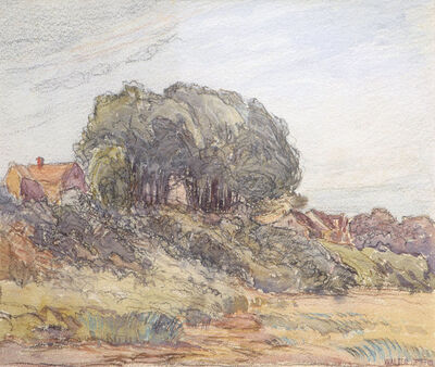 Walter Griffin, 'House on a Hill', 19th -20th Century
