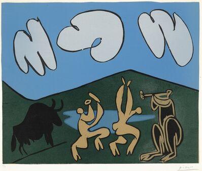 Pablo Picasso, 'Bacchanale au taureau noir (B. 935; Ba. 1253)', 1959