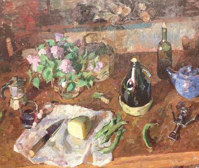 Ben Fenske, 'Lilacs, Pecorino, Wine', 2018