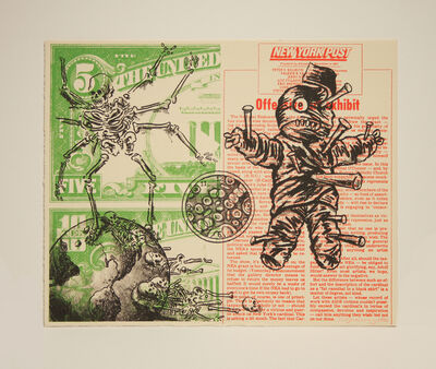 David Wojnarowicz, 'UNTITLED (VOODOO DOLL AND SPIDER)', 1990