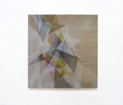 Irena Eden & Stijn Lernout, 'o.T. (370.395_3.14), acrylic, pencil & tape on cardboard on press board, 39,5 x 37 cm', 2014