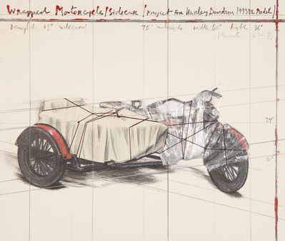 Christo and Jeanne-Claude, 'Wrapped Motorcycle/Side Car - Project for Harley Davidson 1933 VL Model', 1997
