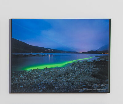 Mario Airò, 'En plein air wondering the alps with laser and camera', 2011