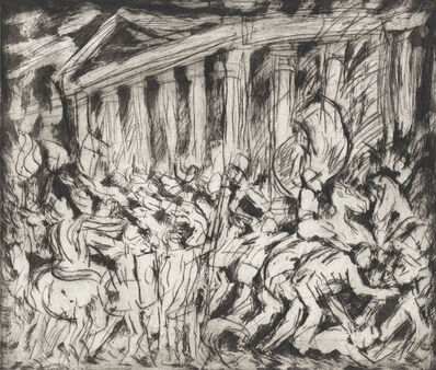 Leon Kossoff, 'From Poussin 'The Destruction and the Sack of the Temple of Jerusalem'', 1999