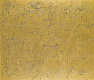 Ghada Amer, 'Golden Stripes', 2005