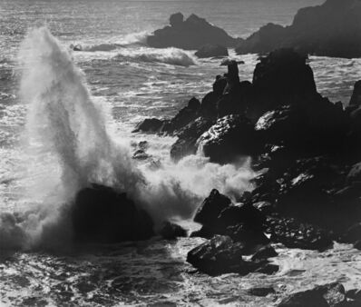 Ansel Adams, 'Storm Surf and Rocks, Timber Cove, California', 1960