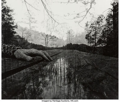 Jerry Uelsmann, 'Untitled (Hand and trees)', 1974
