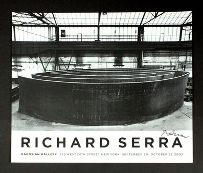 Richard Serra, 'Wake Blindspot Catwalk Vice-Versa (Hand Signed)', 2003