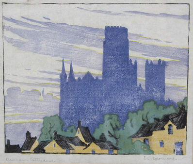Ethel Spowers, 'Durham Cathedral', 1924