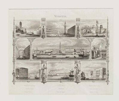 Unknown, '19th Century Venice Landscape - Original Lithograph', Late 19th Century