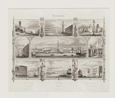 Unknown, '19th Century Venice Landscape - Original Lithograph', Late 19th Century