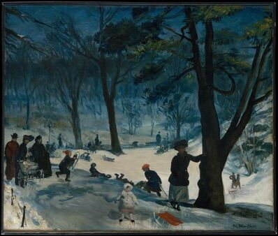 William James Glackens, 'Central Park, Winter', ca. 1905