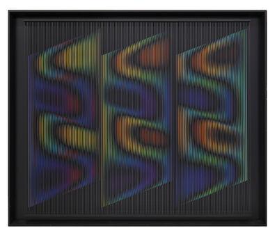 Alberto Biasi, 'Forme del vento… di notte', 1998