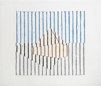 Jennifer Losch Bartlett, 'Untitled (Graceland Woodcut State II) ', 1979-1980