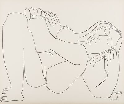 After Pablo Picasso, 'Femme Nue, 11.8.69, no. VI', 1969