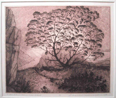 David Blackwood, 'Gram Glover's Tree on Bragg's Island', 1999