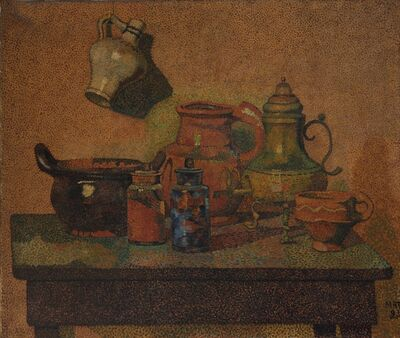 H.P. Bremmer, 'Still life with jugs and bottles', March 1893