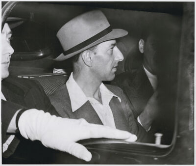 Weegee, '2 Arrested in Radio City Lift Strike', 1943