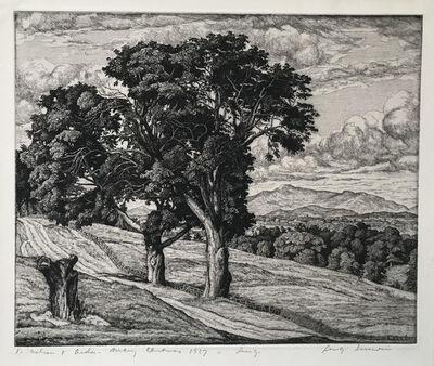 Luigi Lucioni, 'Trees and Mountains', 1936