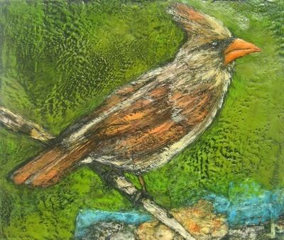 Marcie Wolf-Hubbard, 'Well-Traveled (Female Cardinal)'