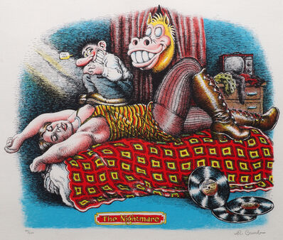 R. Crumb, 'The Nightmare and Le Front de Sauve (two works)', 1970
