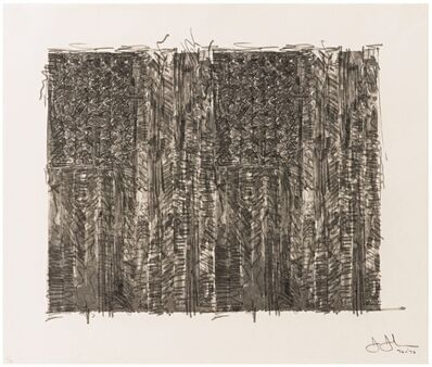 Jasper Johns, 'Two Flags', 1970-1972