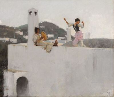 John Singer Sargent, 'Capri Girl on a Rooftop', 1878