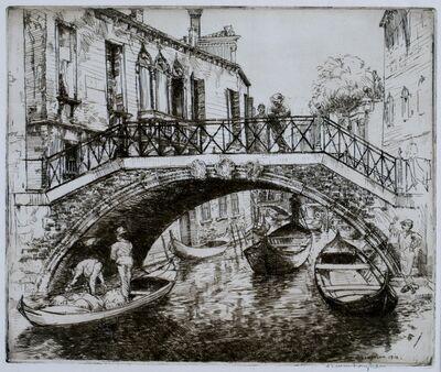 Donald Shaw MacLaughlan, 'Bridges and Palaces, Venice', 1912