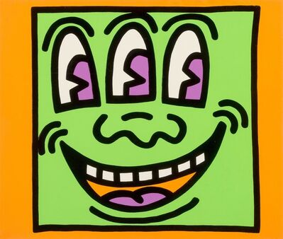 Keith Haring, 'Three Eyed, from Icons', 1990
