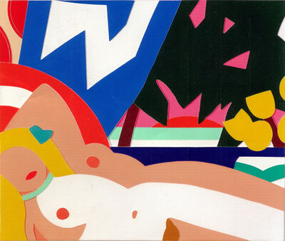 Tom Wesselmann, 'Sunset Nude with Yellow Tulips', 2004