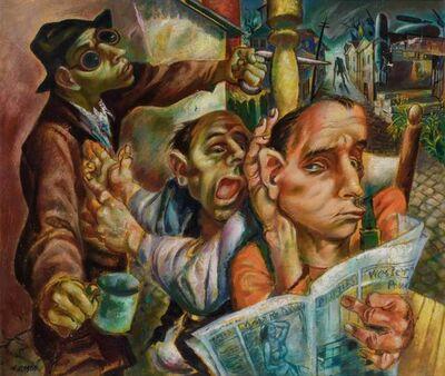 Michael Lenson, 'The Deaf Man Heard the Dumb Man Say That the Blind Man Saw the Lame Man Run', circa 1940s